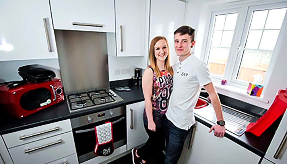 The first residents of Heartlands move in to their new home Taylor Wimpey home